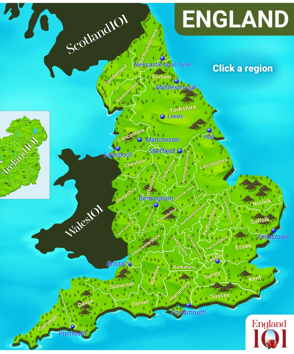 Interactive Map Of England.Explore Our Interactive Map Of England England 101