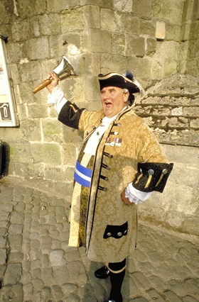 Town Crier On Gold Hill, Shaftesbury
