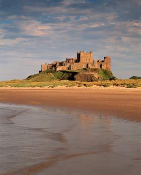 Castle view from beach, Bamburgh
