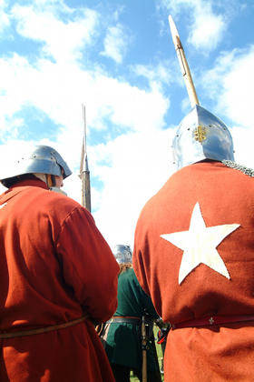 Two soldiers at the Battle of Bosworth re-enactment