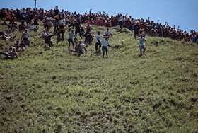 Cheese Rolling event at Cooper's Hill