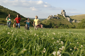 Corfe Castle on the Isle of Purbeck