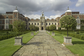 A spectacular view of Hatfield House