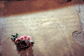 Holy Trinity church, Shakespeare's gravestone
