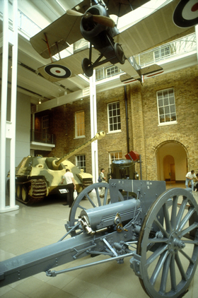 Imperial war museum on Lambeth road, Waterloo