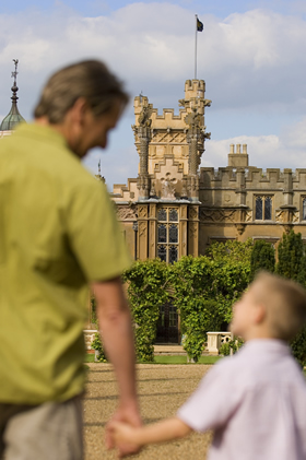 Father and son at Knebworth House