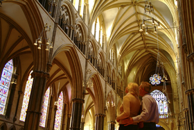 The spectacular interior of Lincoln Cathedral