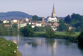 A view across the river Wye