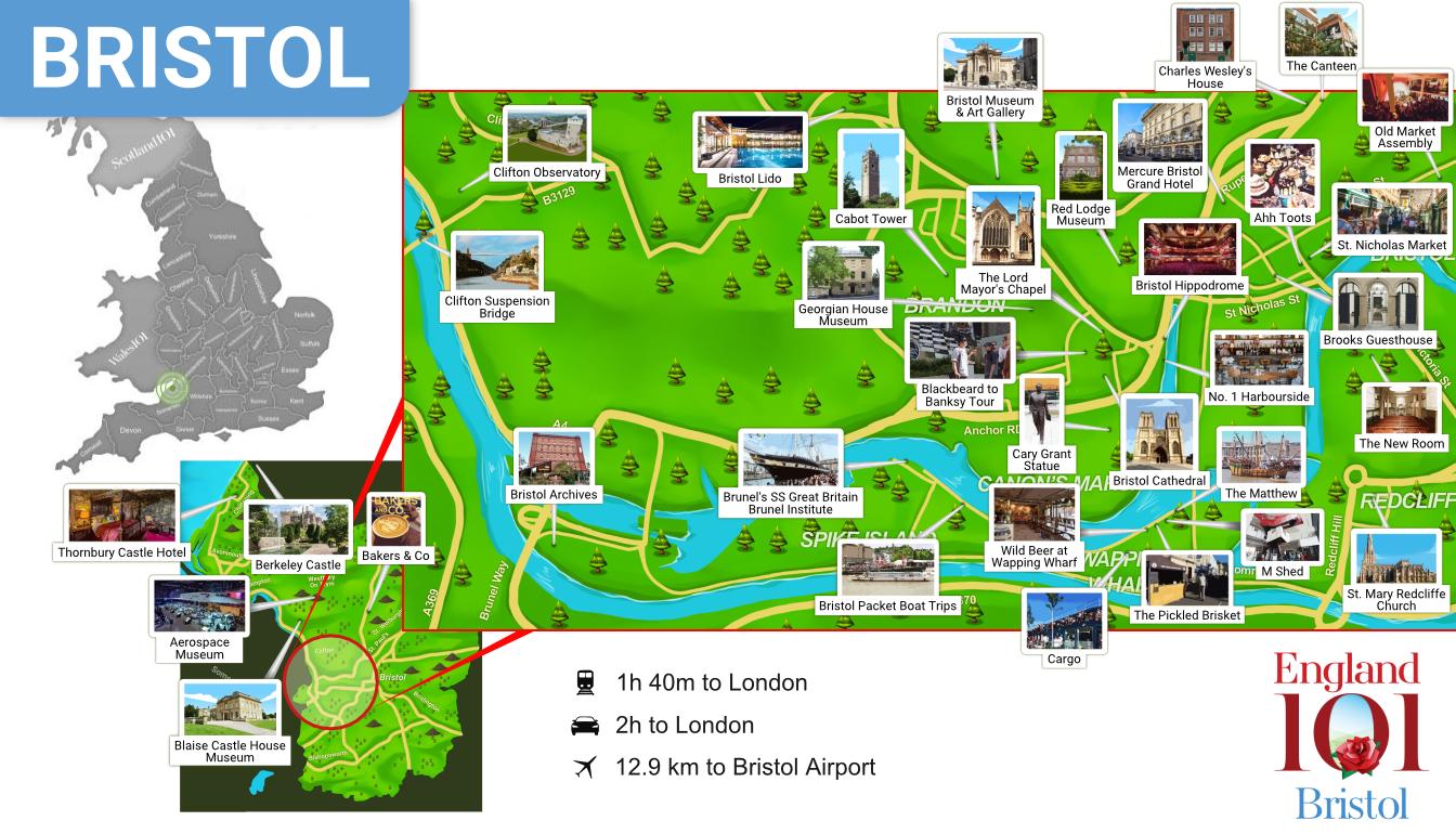 Map of Bristol, England