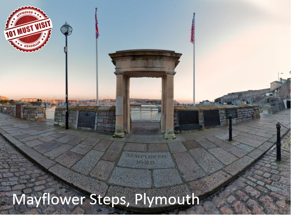 Mayflower Steps Plymouth England